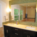 Modern Bathroom with Green Tile
