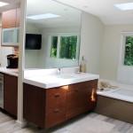 Modern White Wood Bathroom