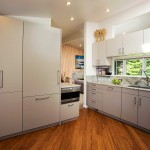 White Kitchen with Hardwood Flooring