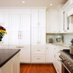Kitchen with Black Granite Countertops